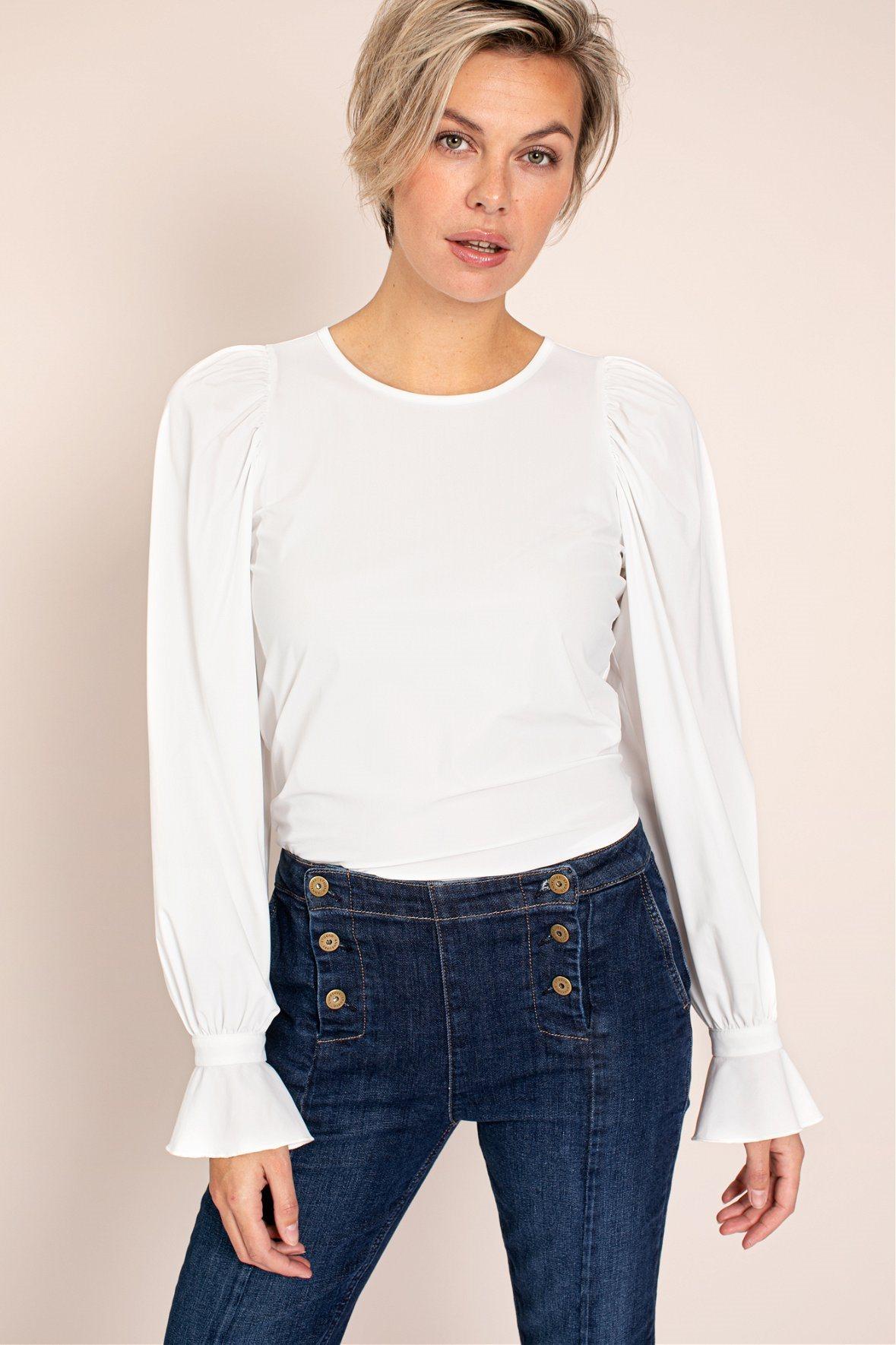 Elaine ruffle blouse