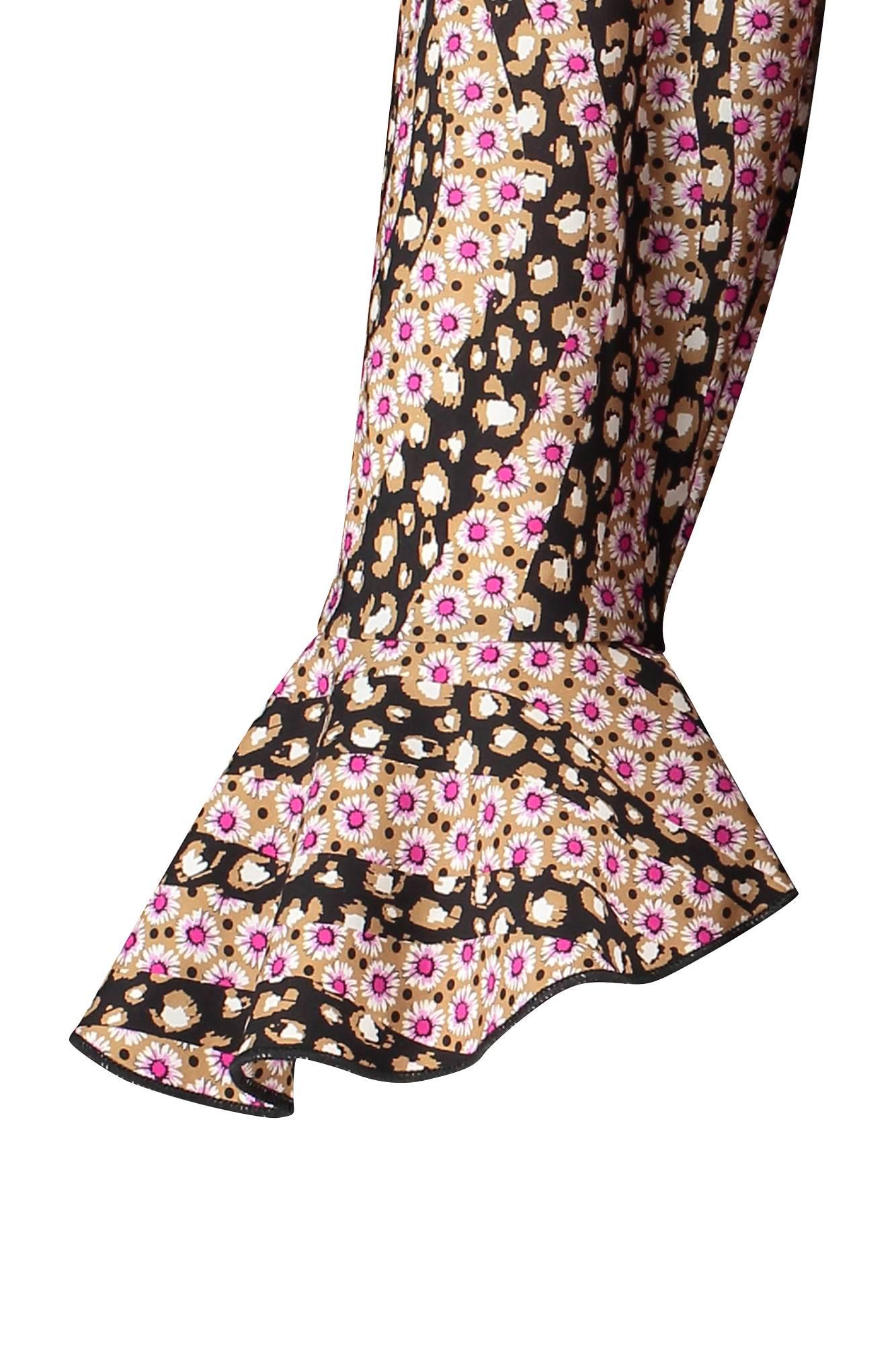 Adrianne leo flower blouse