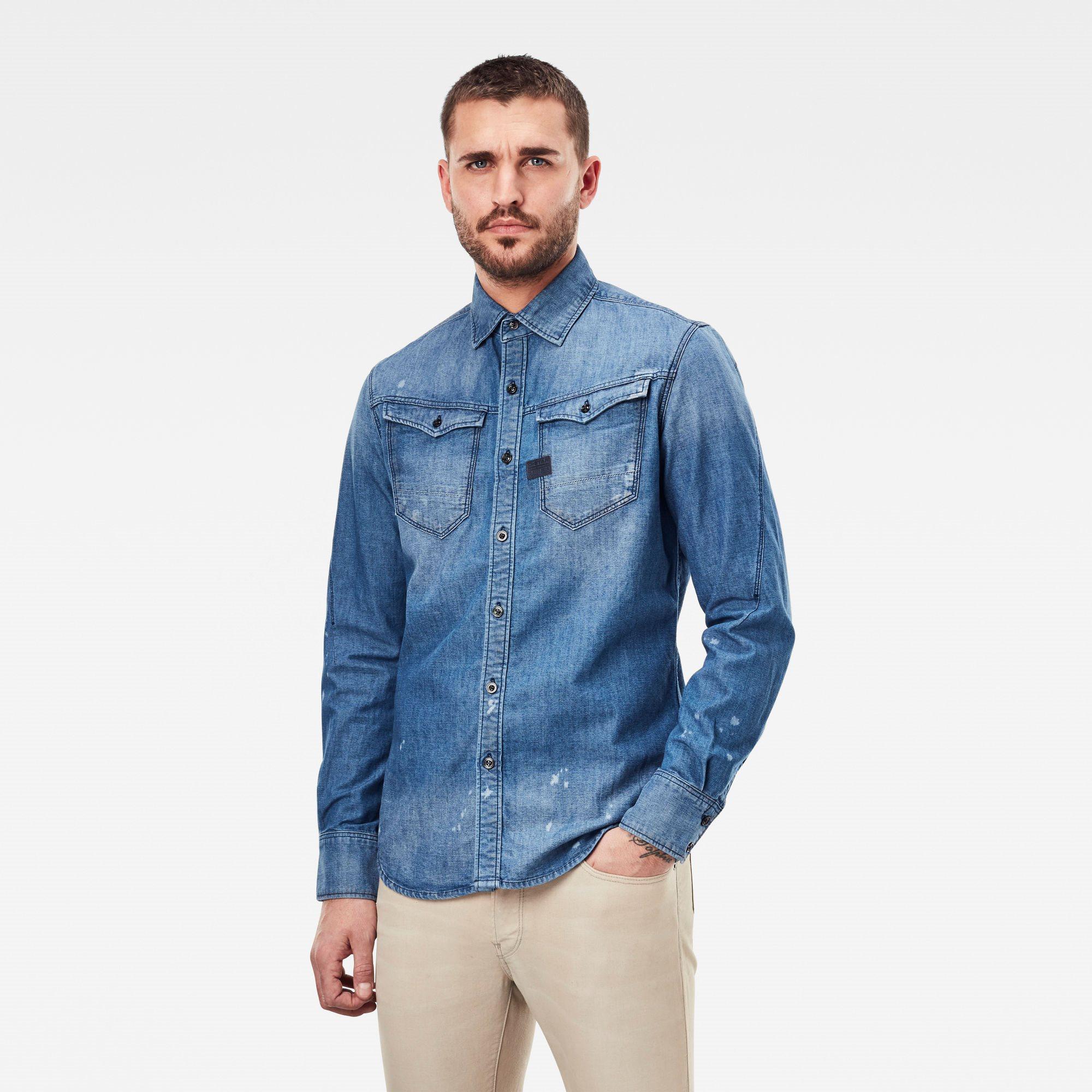 Arc 3d slim shirt ls