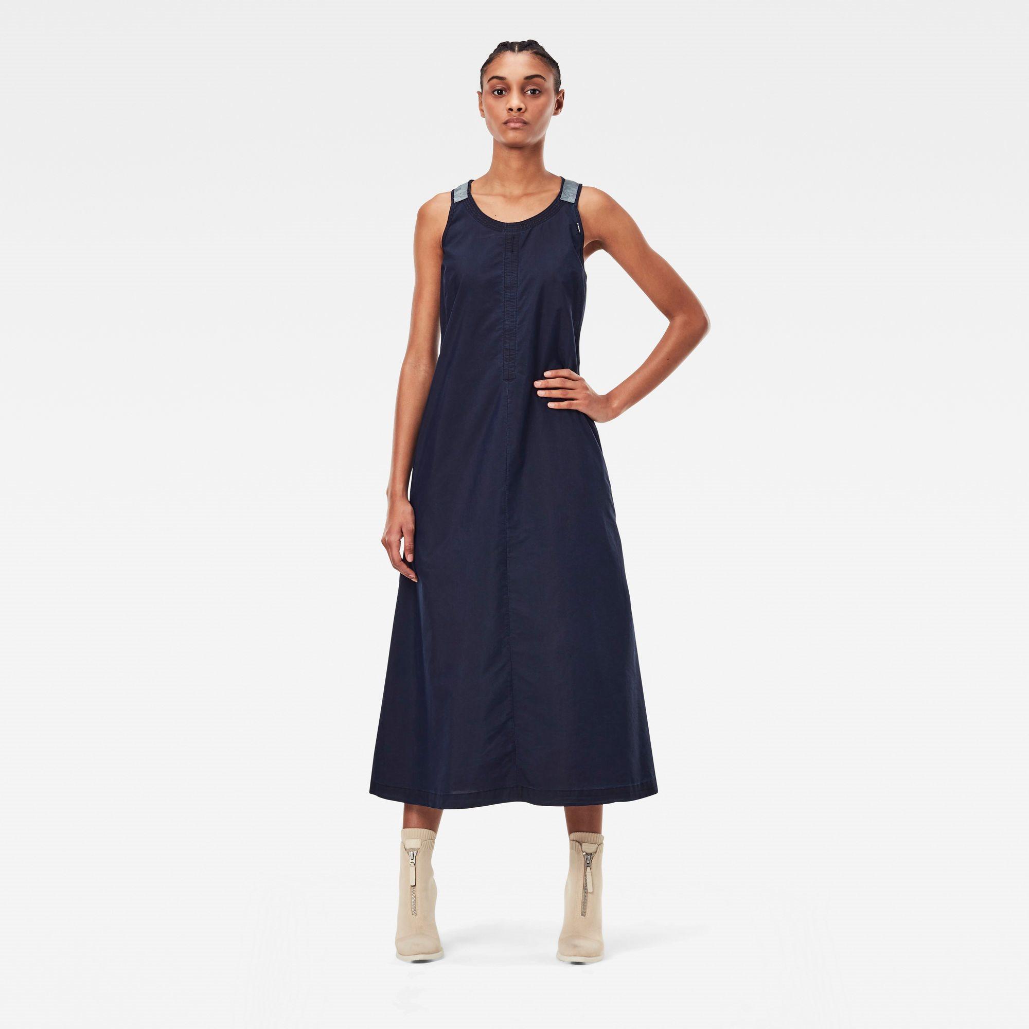 Utility strap dress sless